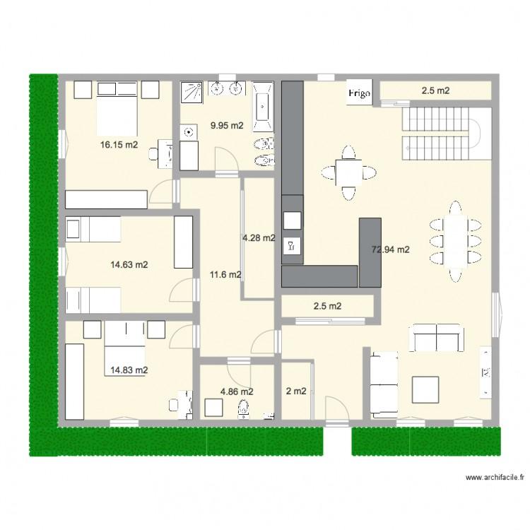 Plan Maison 2 Plan 11 Pi Ces 156 M2 Dessin Par Nisso