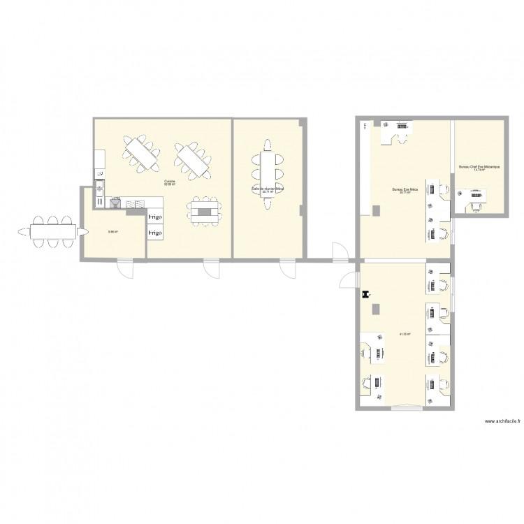plan bureau ex cution plan 6 pi ces 189 m2 dessin par sylainuniper. Black Bedroom Furniture Sets. Home Design Ideas
