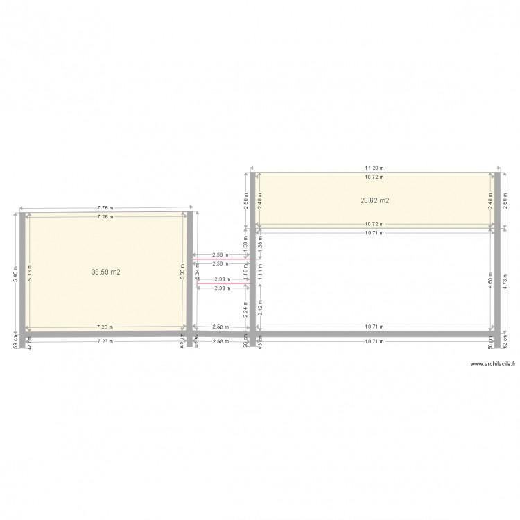 Mes plans plan 2 pi ces 65 m2 dessin par modobrico for Dessine mes plans de maison