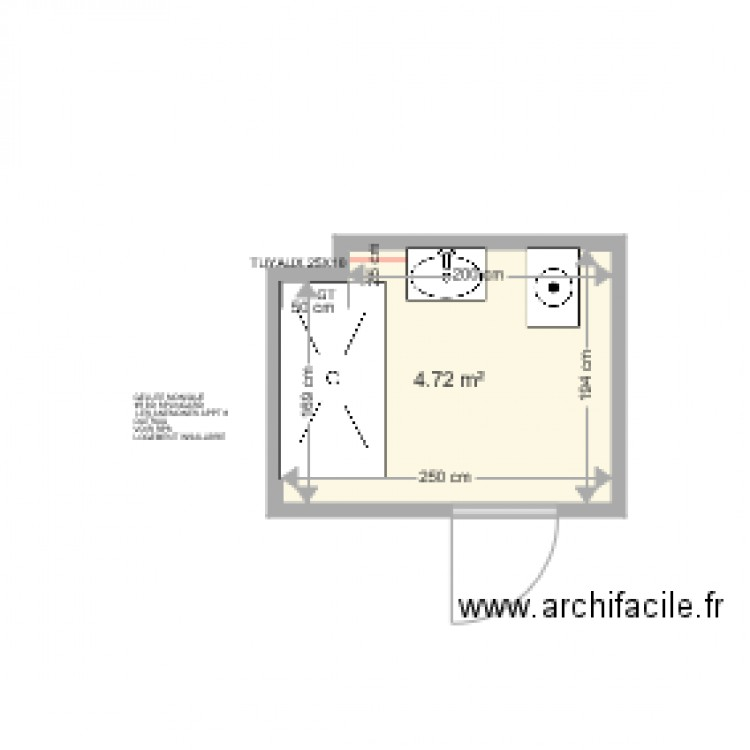Gelee monique outreau plan 1 pi ce 5 m2 dessin par for Piscine outreau