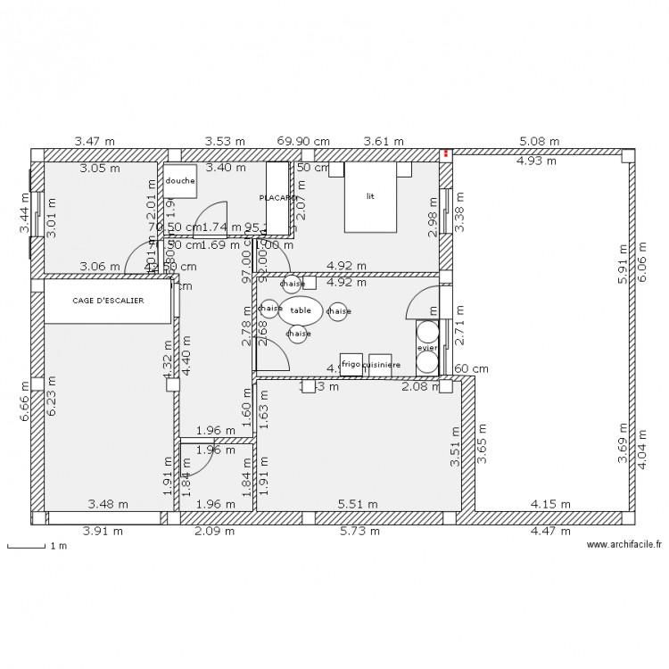 Maison plan 9 pi ces 140 m2 dessin par salim amara for Plan maison 140m2