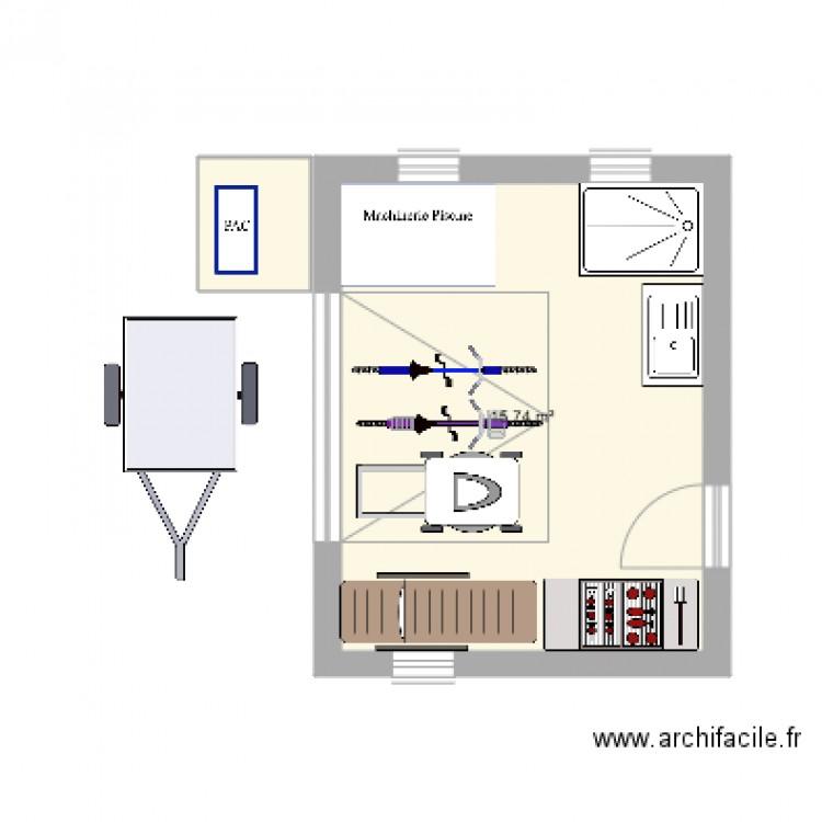 Local technique 2d plan 2 pi ces 17 m2 dessin par goodmood - Plan 2d facile ...