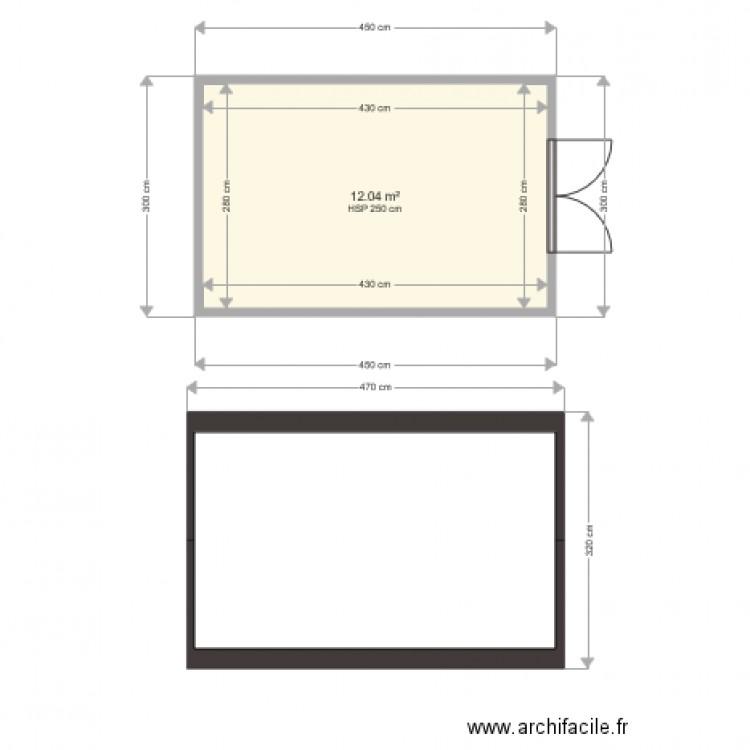 Abri jardin plan 1 pi ce 12 m2 dessin par marcel8710 - Abri jardin grande taille ...