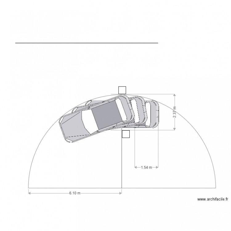 Parcours Auto Rayon De Braquage 20 Degres Plan Dessine Par Marc Gasnier