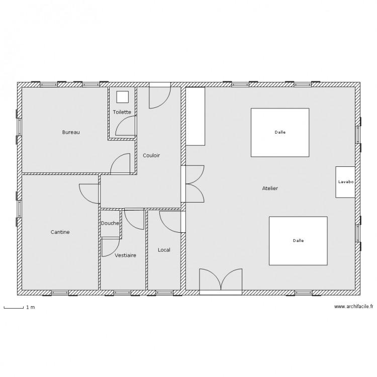 Plan d 39 entreprise plan 8 pi ces 175 m2 dessin par for Container maison taille