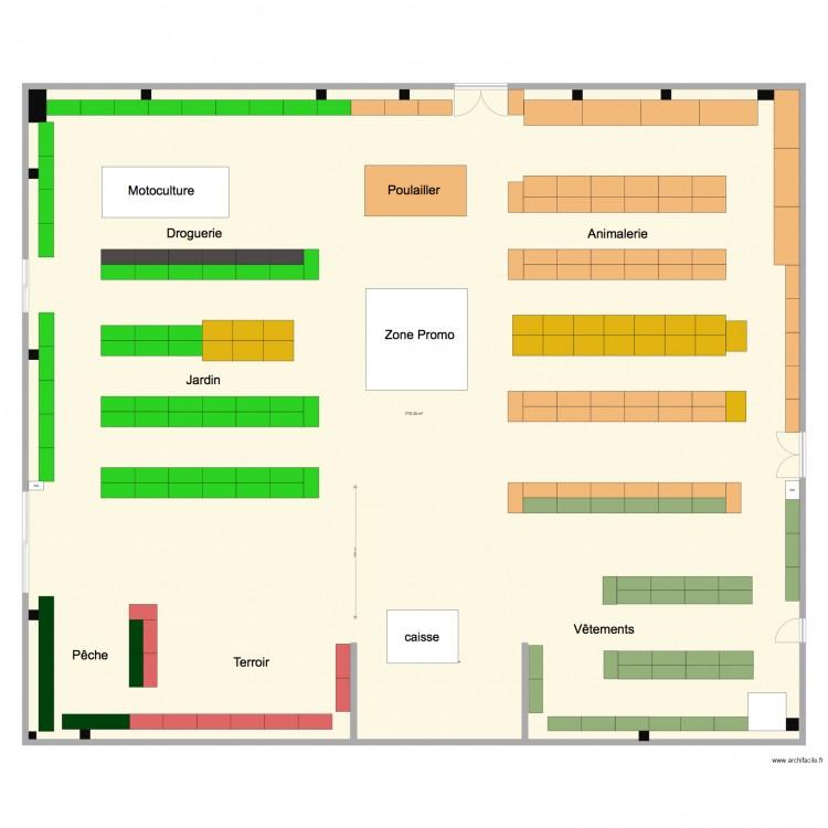 Doullens v2 plan 1 pi ce 775 m2 dessin par sicap for Piscine doullens