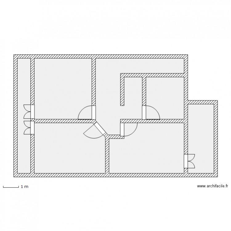 style americain plan 7 pi ces 80 m2 dessin par vinchy. Black Bedroom Furniture Sets. Home Design Ideas