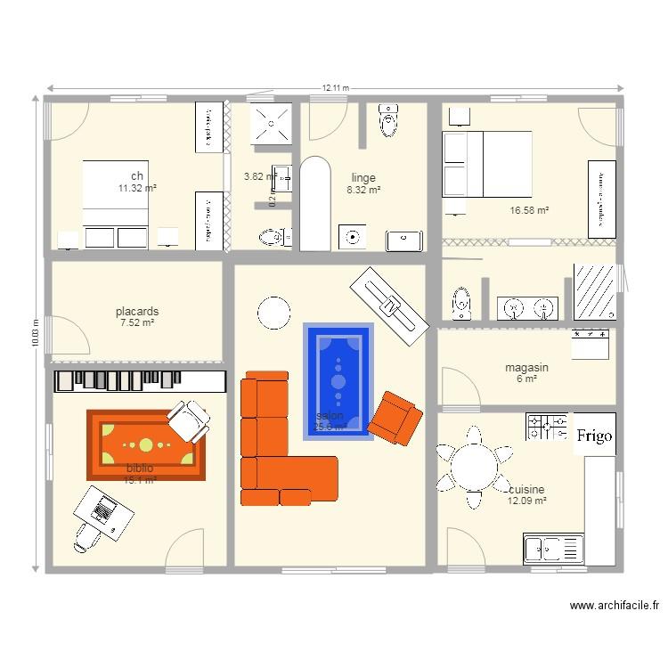Maison 120 M2 Classique Plan 9 Pieces 106 M2 Dessine Par Flore36