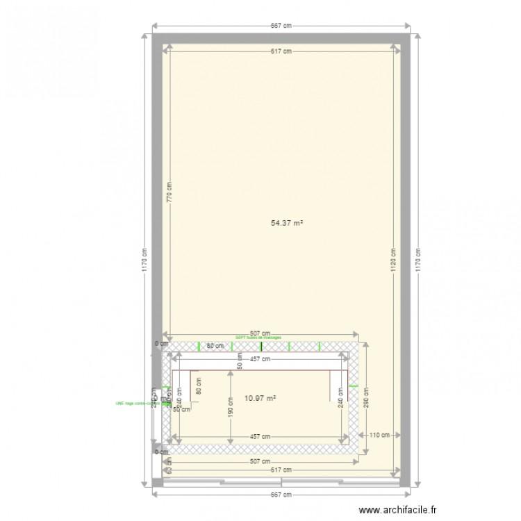 bassin nage contre courant est plan 3 pi ces 65 m2 dessin par paulmsr. Black Bedroom Furniture Sets. Home Design Ideas