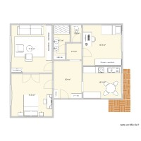 Plan appartement 75m2