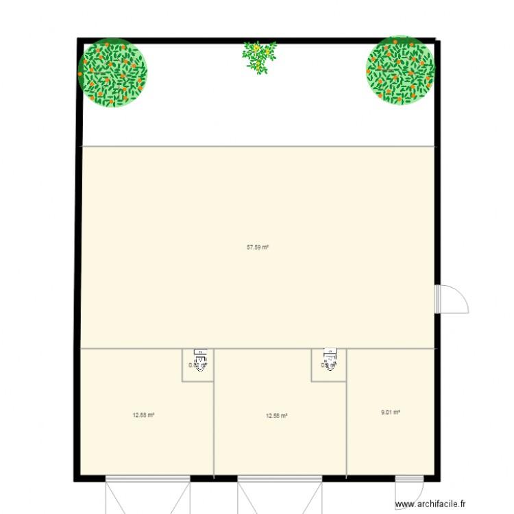 Plan les platanes plan 6 pi ces 94 m2 dessin par sihem2017 for Garage des platanes