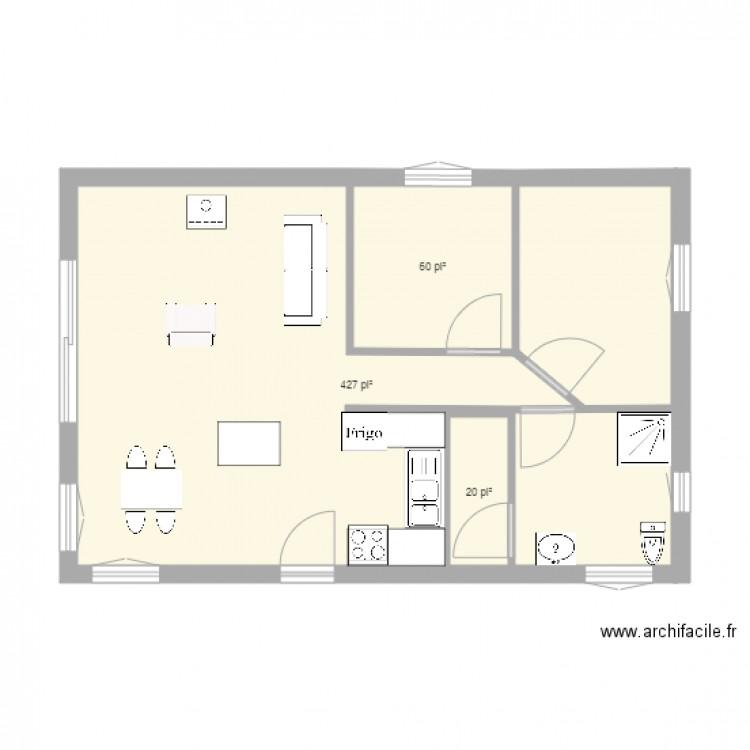 Projet2 modifier plan 3 pi ces 47 m2 dessin par marc st for Modifier plan maison