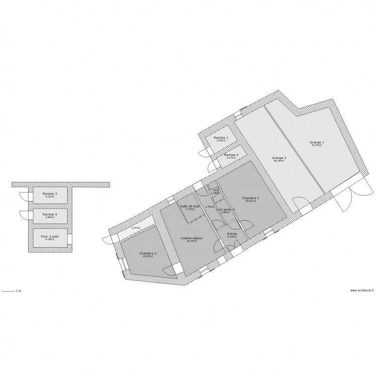 Plan De Masse Maison Grange Annexe Plan 16 Pi Ces 147 M2
