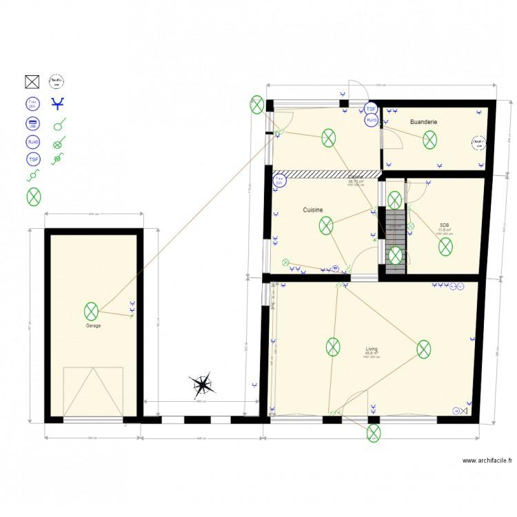 maison electricit plan 10 pi ces 280 m2 dessin par. Black Bedroom Furniture Sets. Home Design Ideas