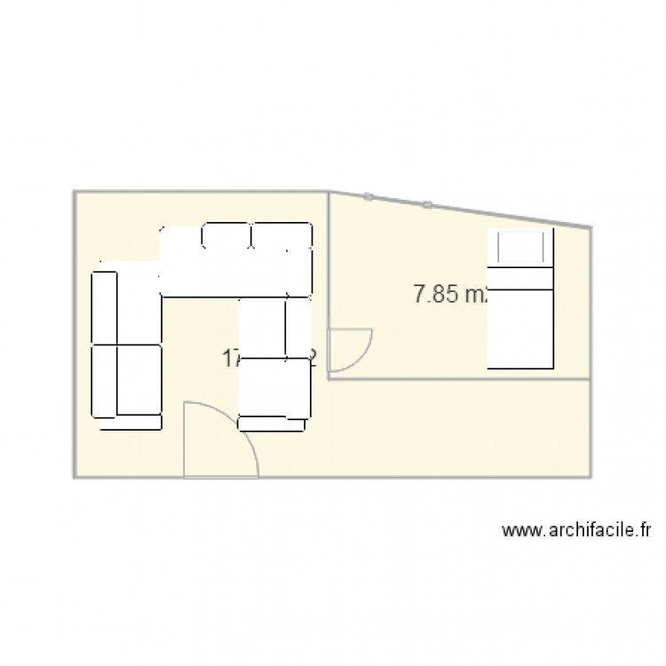 plan de maison 1 chambre
