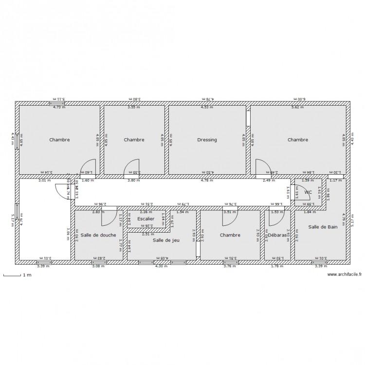 long re walhain tage plan 11 pi ces 122 m2 dessin par jcs1200. Black Bedroom Furniture Sets. Home Design Ideas