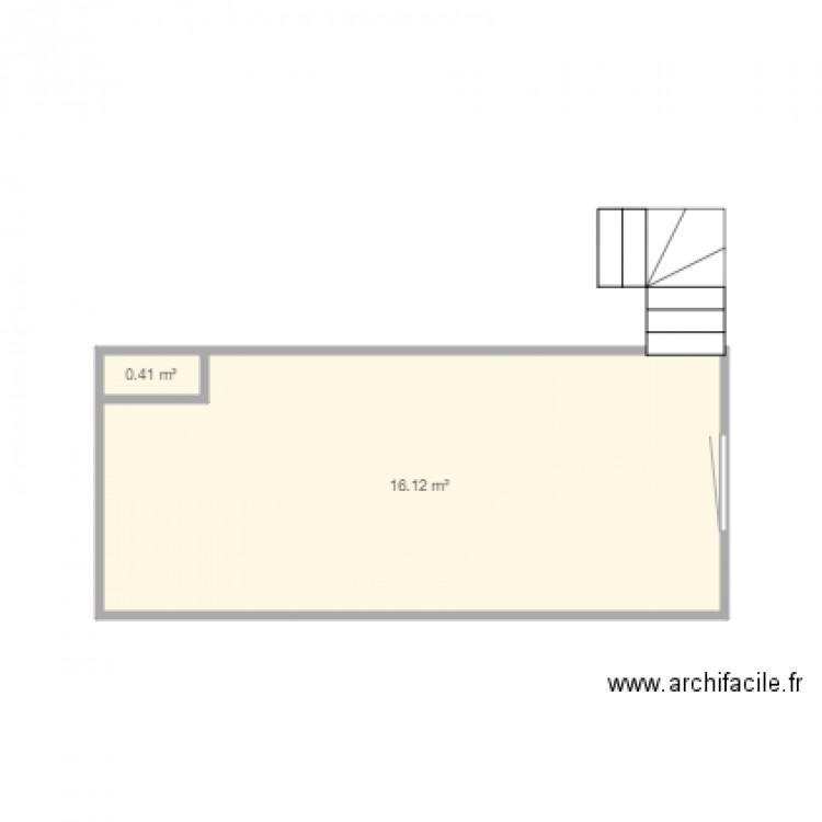 1er etage appartement deuil plan 2 pi ces 17 m2 dessin par friendsando. Black Bedroom Furniture Sets. Home Design Ideas