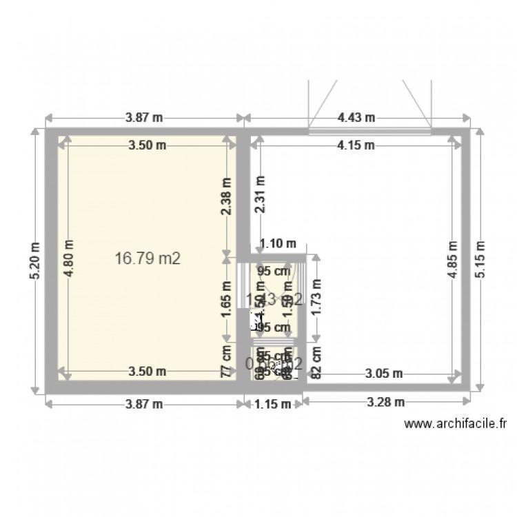garage et toilette plan 3 pi ces 19 m2 dessin par jhu. Black Bedroom Furniture Sets. Home Design Ideas