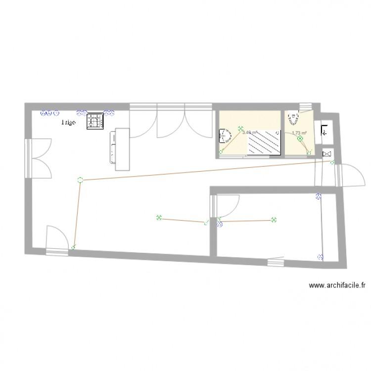 plan lectrique plan 2 pi ces 5 m2 dessin par karenross. Black Bedroom Furniture Sets. Home Design Ideas