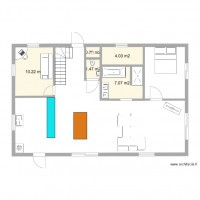 Studio 25m2 plan 5 pi ces 24 m2 dessin par leblanc2002 for Amenager 25m2