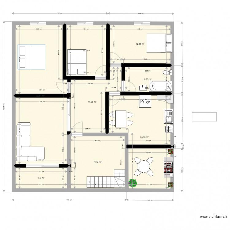 Dlb 2 plan 8 pi ces 125 m2 dessin par alaeddine boualit for Dlb meubles