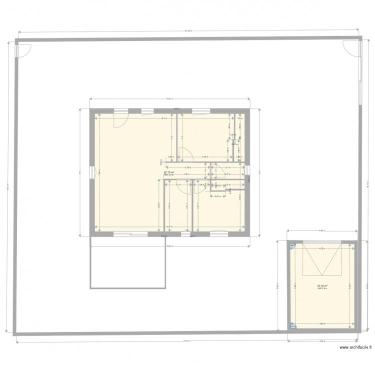 maison borgo plan 2 pi ces 88 m2 dessin par edfifi. Black Bedroom Furniture Sets. Home Design Ideas