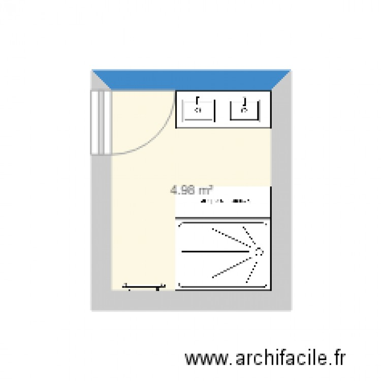 salle de bain 2 plan 1 pi ce 5 m2 dessin par emilonga. Black Bedroom Furniture Sets. Home Design Ideas