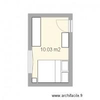 Plan de chambre avec archifacile for Chambre a coucher 10m2