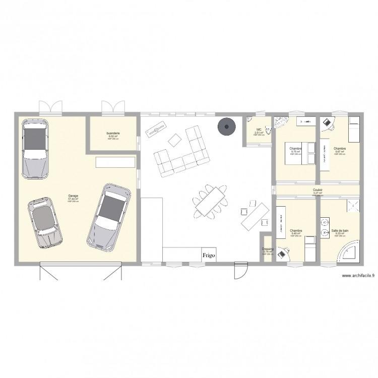 Maison loulou plan 9 pi ces 108 m2 dessin par lolodu34210 - Dessiner plan maison en ligne ...