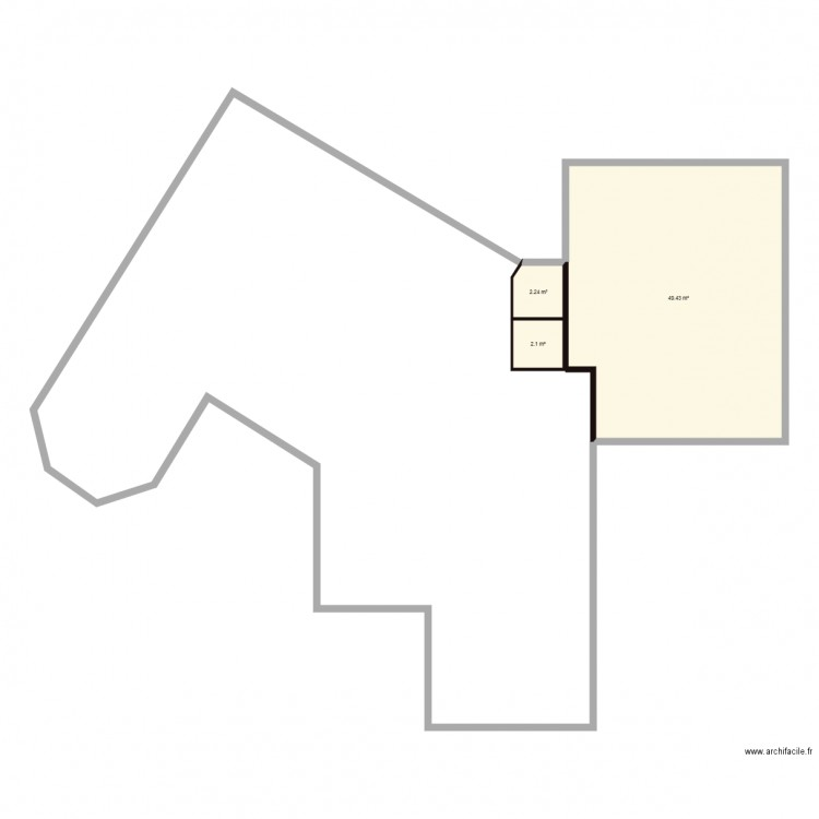 plan de maison hexagonale