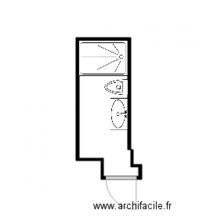 fesch toilette plan 1 pi ce 1 m2 dessin par marcantoinetorre. Black Bedroom Furniture Sets. Home Design Ideas