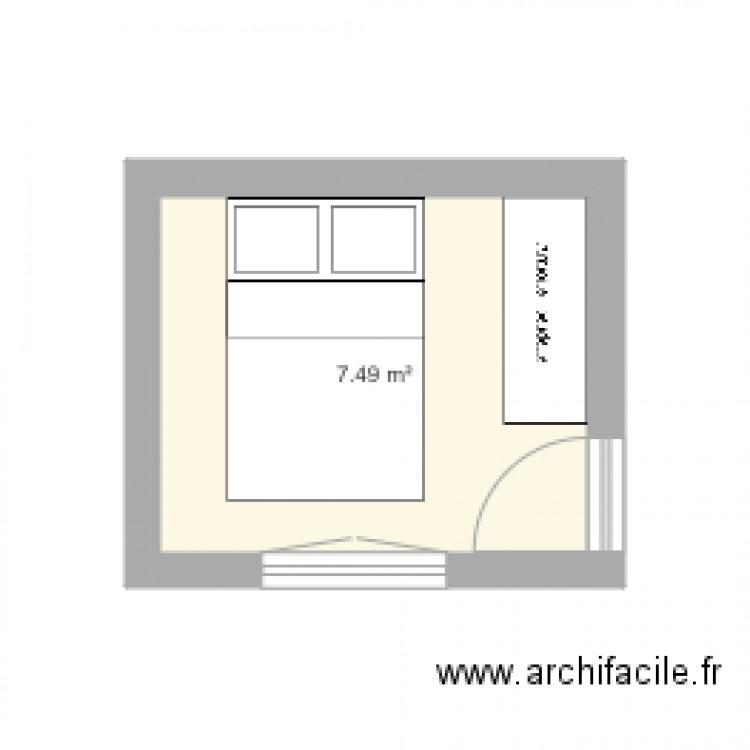 Chambre Plan 1 Pi Ce 7 M2 Dessin Par Isalz