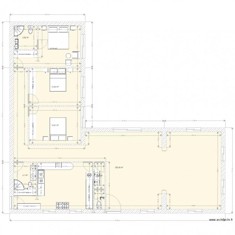 Hawzia1 plan 7 pi ces 162 m2 dessin par hawzia for 162 plan