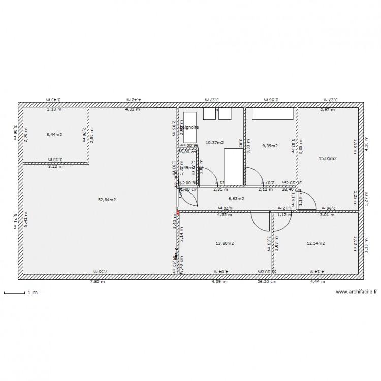 Maison plein pied 2311 plan 9 pi ces 131 m2 dessin par - Plan maison 140m2 plain pied ...