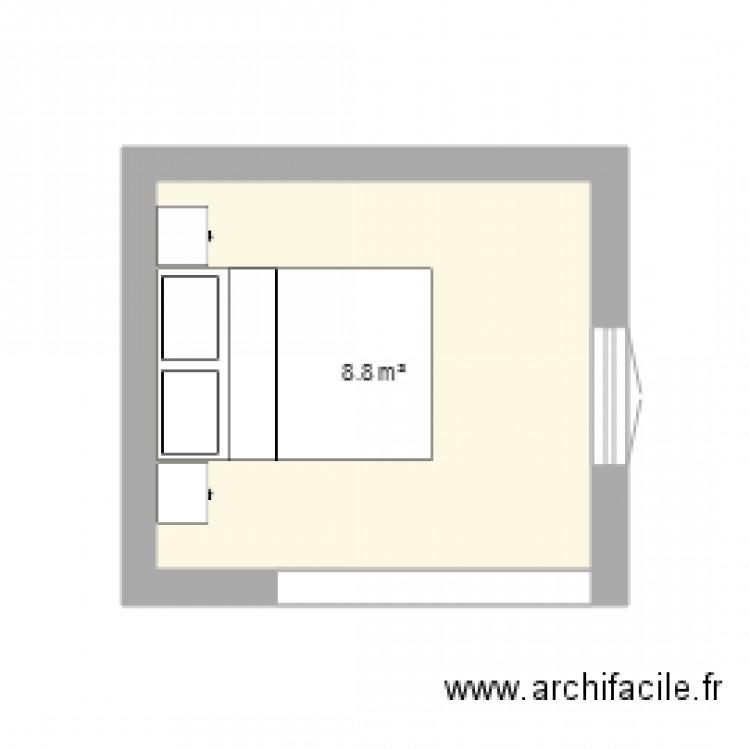 Chambre 3 Plan 1 Pi Ce 9 M2 Dessin Par T4 Essai