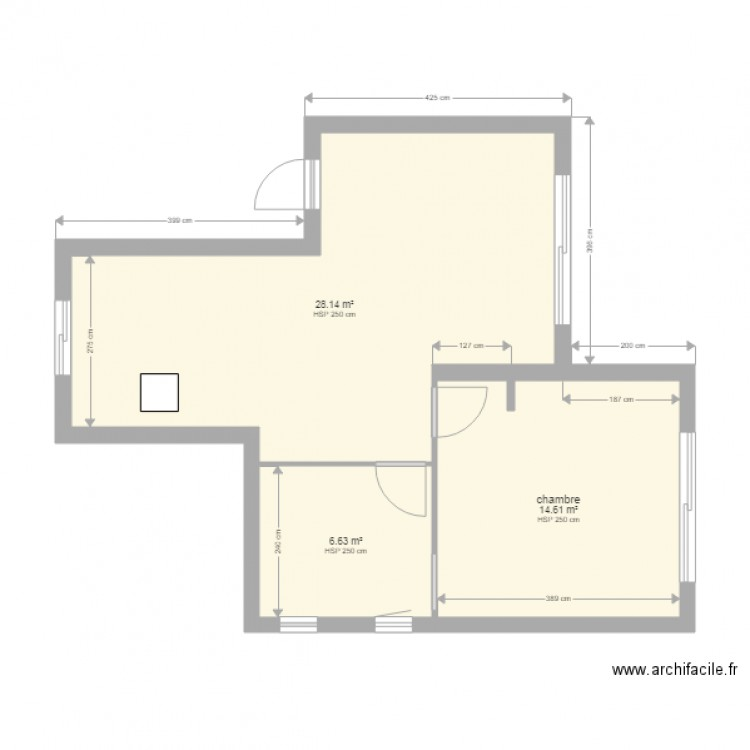plan appartement f2