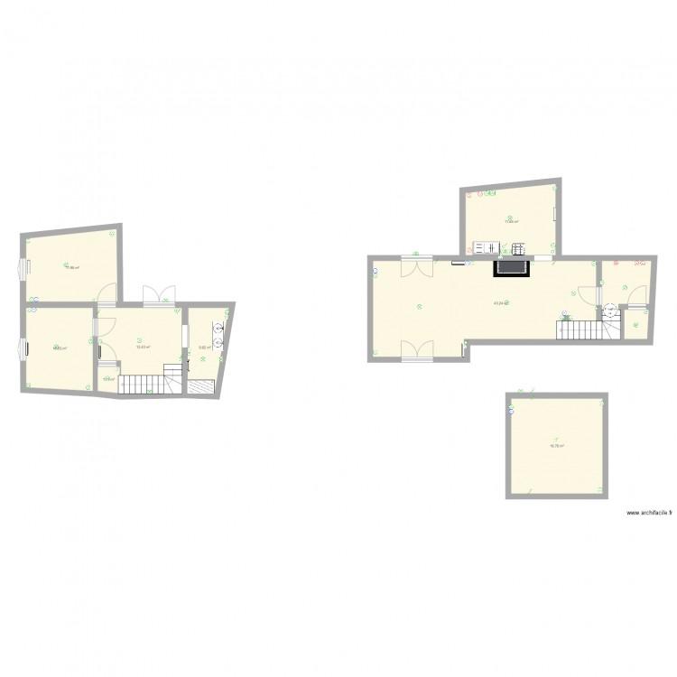 maison electricit plan 8 pi ces 113 m2 dessin par. Black Bedroom Furniture Sets. Home Design Ideas