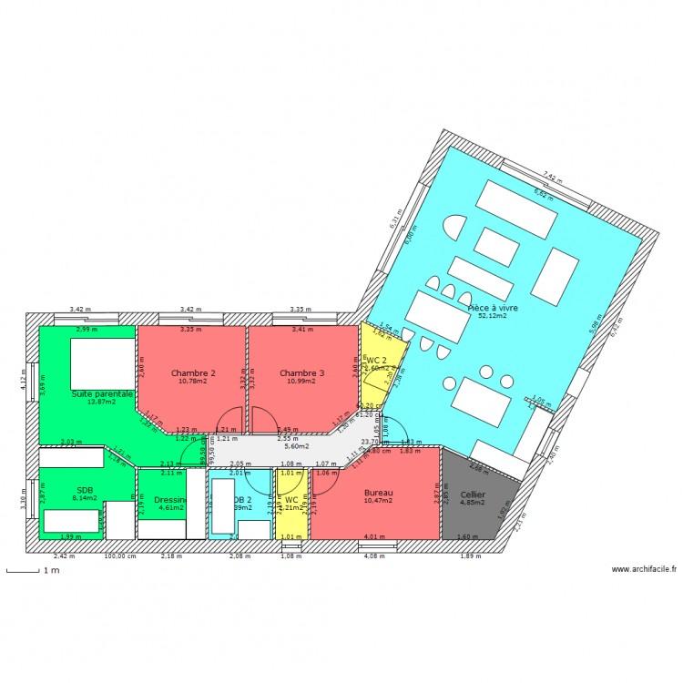 Cellier sans buanderie plan 12 pi ces 131 m2 dessin par skitklat - Plan buanderie cellier ...