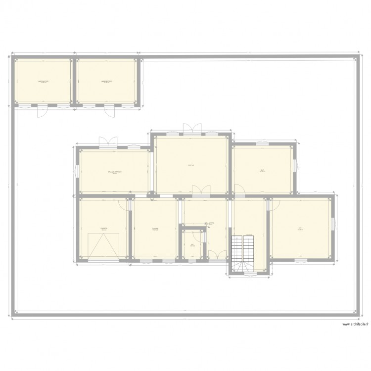 maison familiale plan 11 pi ces 186 m2 dessin par karl99. Black Bedroom Furniture Sets. Home Design Ideas