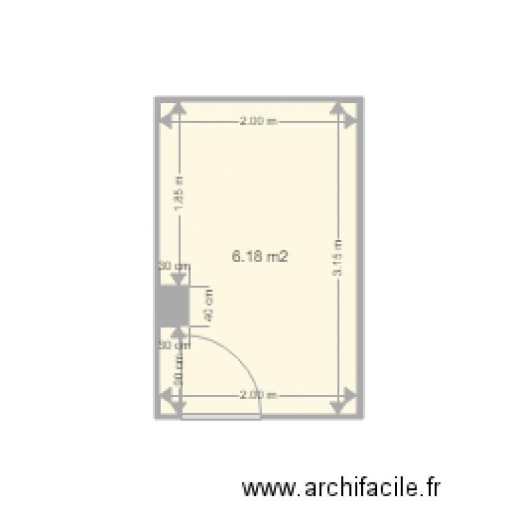 salle de bain plan 1 pi ce 6 m2 dessin par asi info. Black Bedroom Furniture Sets. Home Design Ideas