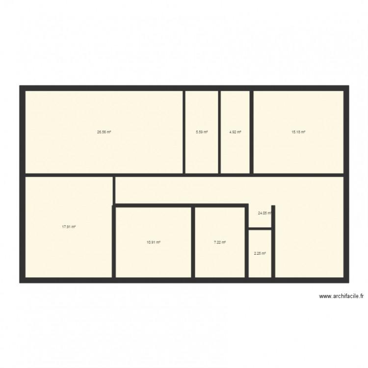 Maison v1 plan 9 pi ces 115 m2 dessin par mulleragri for Taille moyenne maison