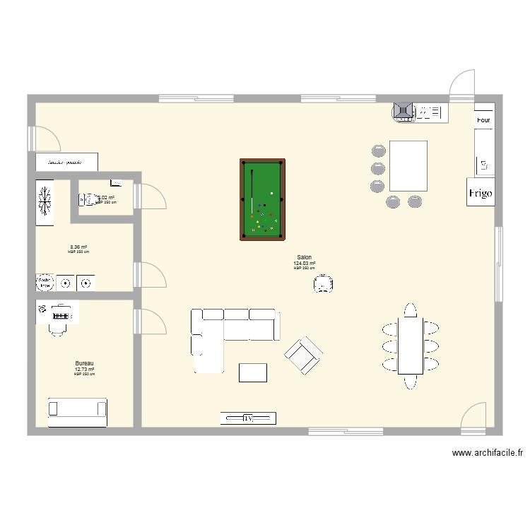 Grange plan 4 pi ces 147 m2 dessin par nico2as - Plan de travail pour bureau ...