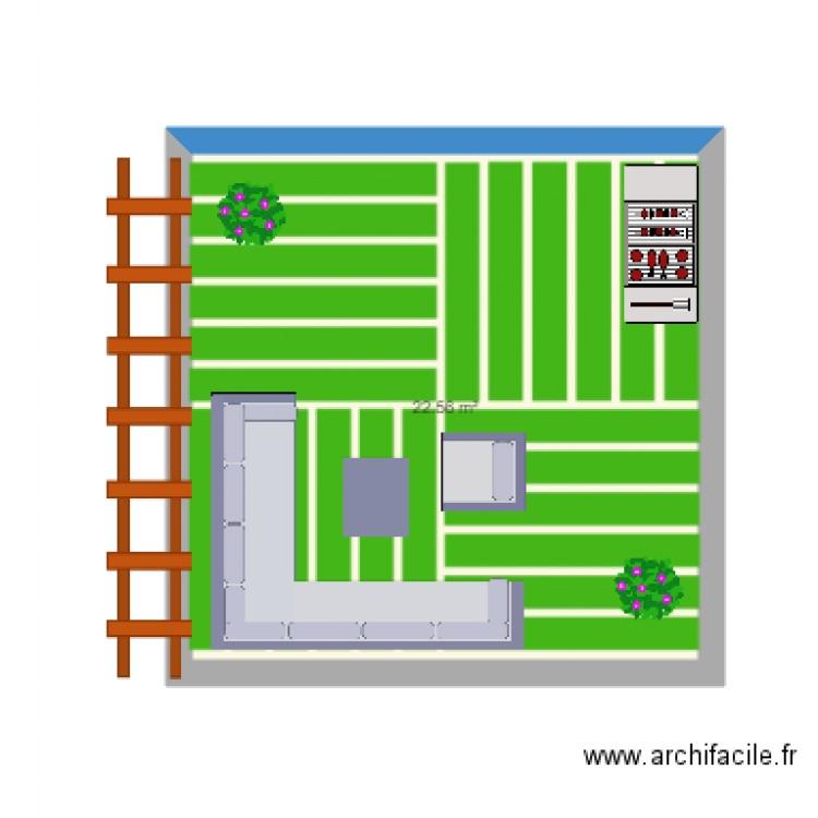 Terrasse Plan 1 Pi Ce 23 M2 Dessin Par Nicolasperea