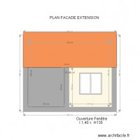 PLAN FACADE EXTENSION