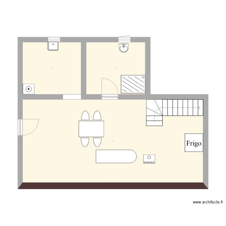 saint beron plan 3 pi ces 51 m2 dessin par colette73520. Black Bedroom Furniture Sets. Home Design Ideas