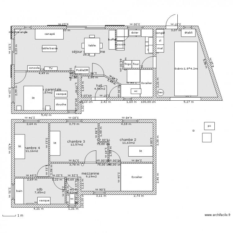 Plan masse 4 chambres avec garage plan 12 pi ces 140 m2 dessin par bart56 - Plan de masse et plan de situation ...