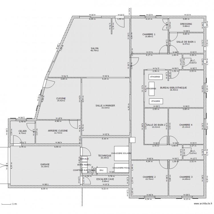 Maison ideale plan 19 pi ces 329 m2 dessin par maestri - Maison ideale ...