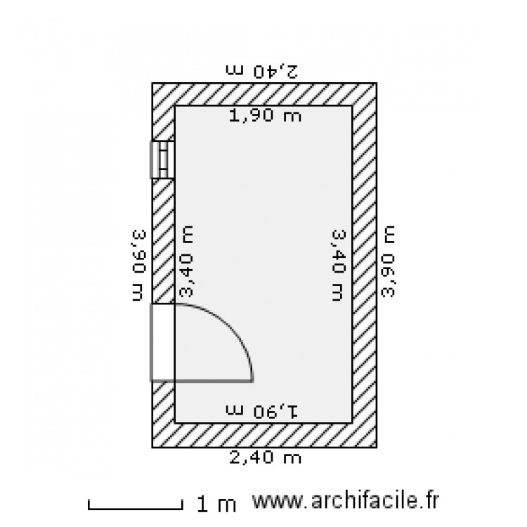 local technique piscine plan 1 pi ce 6 m2 dessin par. Black Bedroom Furniture Sets. Home Design Ideas
