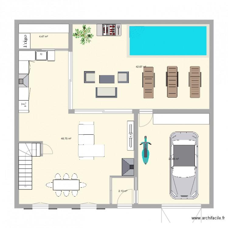 Plan plan 5 pi ces 120 m2 dessin par remy832 - Plan appartement 120 m2 ...