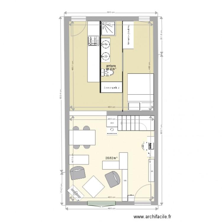 maison des nains1bis plan 2 pi ces 42 m2 dessin par nl. Black Bedroom Furniture Sets. Home Design Ideas
